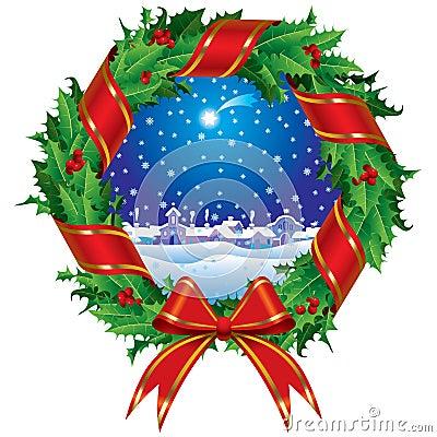 Free Holly Wreath Stock Photo - 3534520