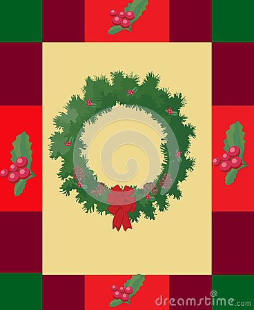 Holly Wreath Christmas Card