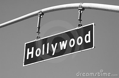 Hollywood Blvd Street Sign 2 BW