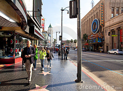 Hollywood Boulevard Editorial Stock Image