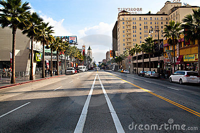 Hollywood Boulevard Editorial Stock Photo