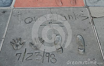 Hollywood Boulevard, Los Angeles,USA Editorial Image