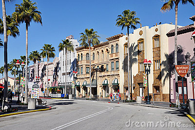 Hollywood Boulevard in Universal Orlando Editorial Photography