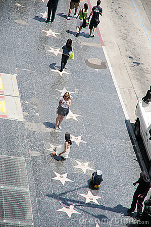 The Hollywood Boulevard Walk of Fame Editorial Image