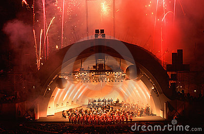 Hollywood Bowl, Los Angeles, CA Editorial Image