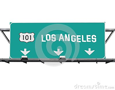 101 Hollywood Freeway Los Angeles Sign