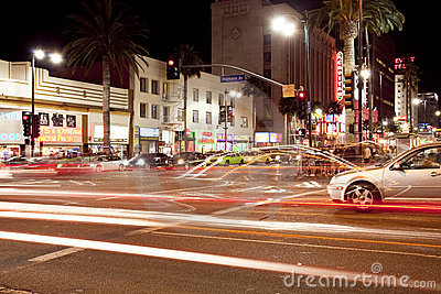 Hollywood and Highland Boulevard Editorial Photo