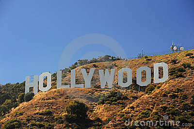 Hollywood on hill Editorial Image