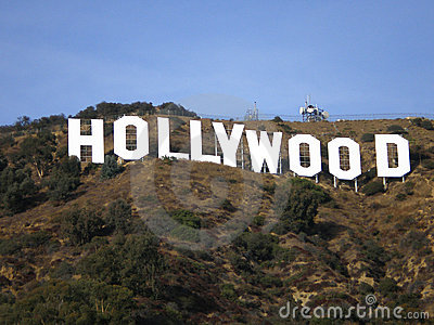 Hollywood Hill Sign Editorial Image