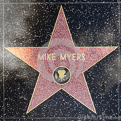 Actor Mike Myers star on Hollywood Walk of Fame Editorial Photo