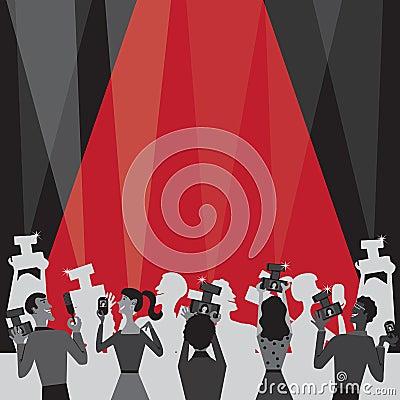 Free Hollywood Movie Award Party Invitation Royalty Free Stock Photography - 23037137