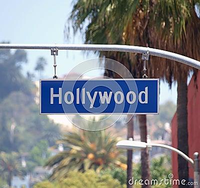 Hollywood-Querstation-Zeichen