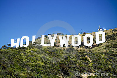 Hollywood Sign Editorial Stock Photo