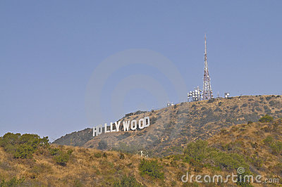 The Hollywood Sign Editorial Stock Image