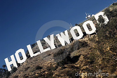 Hollywood Sign Editorial Image
