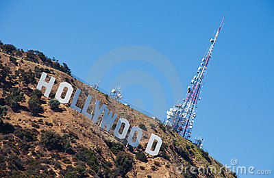 Hollywood Sign, Los Angeles Editorial Stock Photo
