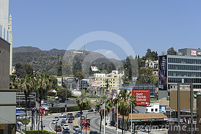 Hollywood sign in los angeles califorinia Editorial Image
