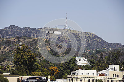 Hollywood sign in los angeles califorinia Editorial Stock Image