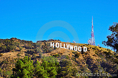 Hollywood sign in Mount Lee, Los Angeles Editorial Photography