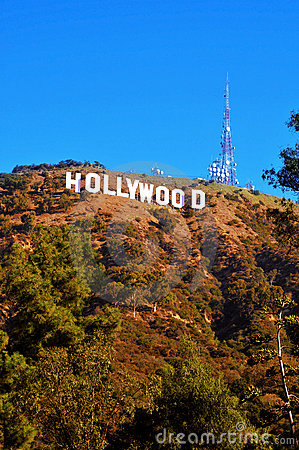 Hollywood sign in Mount Lee, Los Angeles Editorial Stock Image