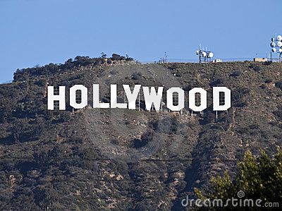 Hollywood Sign Tele Editorial Image