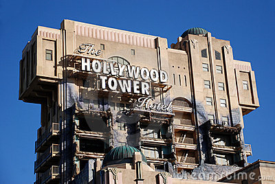 The hollywood tower hotel Editorial Photography