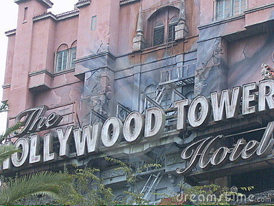 Hollywood tower terror Editorial Photography
