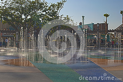Hollywood- USA, October, 3: Fountains of Universal Studios seen Editorial Image