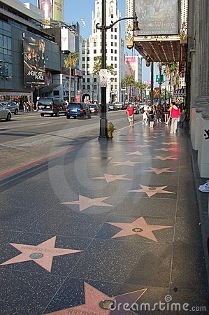 Hollywood: view of the Walk Of Fame Editorial Stock Photo