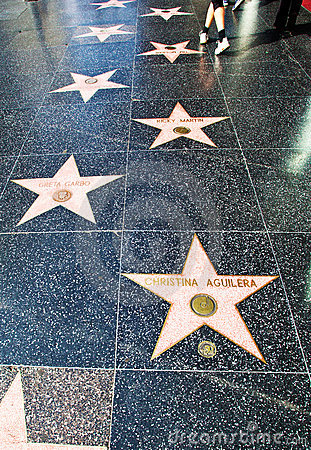 Hollywood Walk Of Fame Editorial Stock Photo