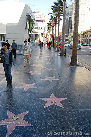 Hollywood Walk of Fame Editorial Stock Image
