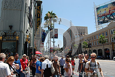 Hollywood walk of fame Editorial Image