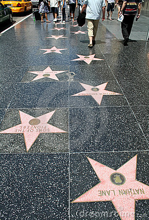 Hollywood Walk Of Fame Editorial Photo