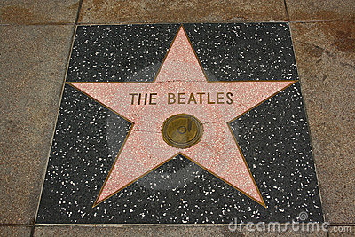 Hollywood Walk of Fame - the Beatles Editorial Image