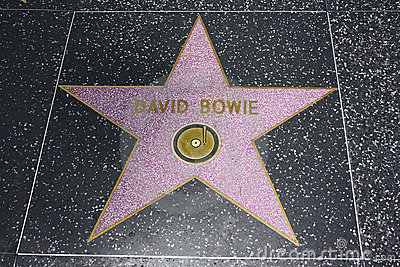 Hollywood Walk of Fame - David Bowie Editorial Photography