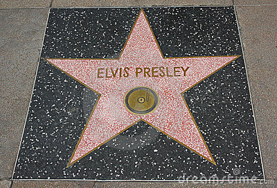 Hollywood Walk of Fame - Elvis Presley Editorial Photography