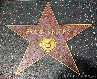 Hollywood Walk of Fame - Frank Sinatra Editorial Stock Photo