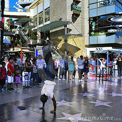Hollywood Walk Of Fame In Hollywood Boulevard Royalty Free Stock Photos - Image: 22613458