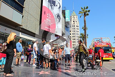 Hollywood walk of fame editorial stock image image 51339124 for Famous people los angeles