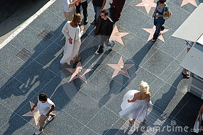 Hollywood - Walk Of Fame with Marilyn Monroe Editorial Photography