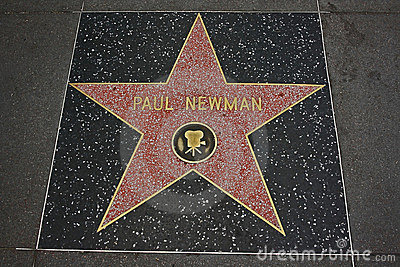 Hollywood Walk of Fame - Paul Newman Editorial Stock Photo