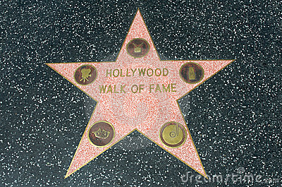Hollywood Walk of Fame star Editorial Photography