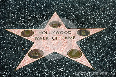 Hollywood Walk of Fame Editorial Photography