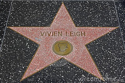 Hollywood Walk of Fame - Vivien Leigh Editorial Stock Photo