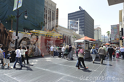 Hollywood walk of stars in los angeles Editorial Photography