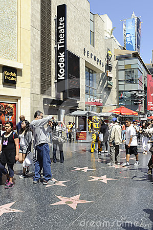 Hollywood walk of stars in los angeles Editorial Photo