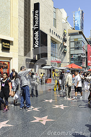 Hollywood walk of stars in los angeles Editorial Image