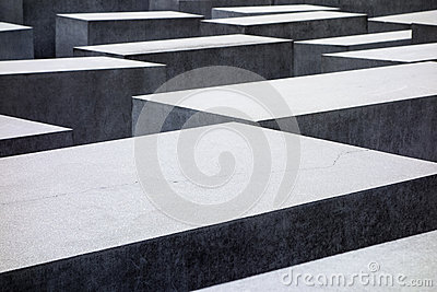 Holocaust Memorial Abstract Editorial Stock Photo