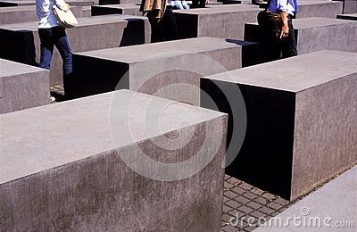 Holocaust memorial Berlin Editorial Photography