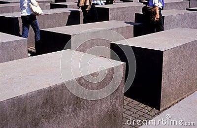 Holocaust memorial Berlin Editorial Photography
